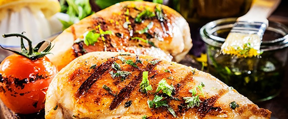 Grilled chicken with herbs for lunch catering delivery Concord ca